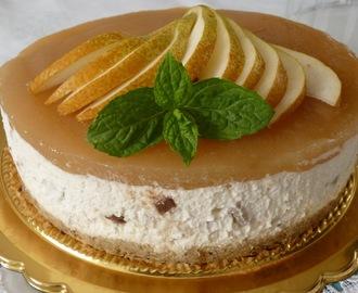 Ricetta del cheesecake al burro di arachidi e pere