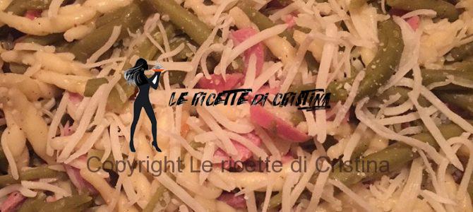 Ricetta delle Trofie con ragù di fagiolini al formaggio