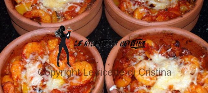 Ricetta del risotto con gamberi e mousse di peperoni