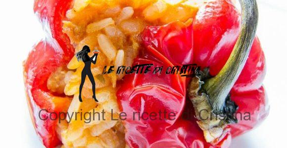 Ricetta dei peperoni ripieni di Paella