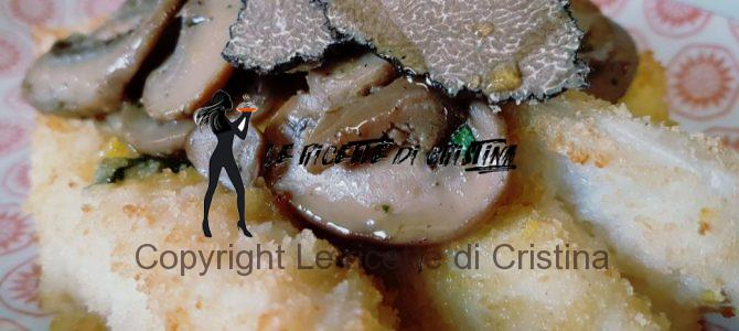 Ricetta della coda di rospo con salsa al tartufo nero