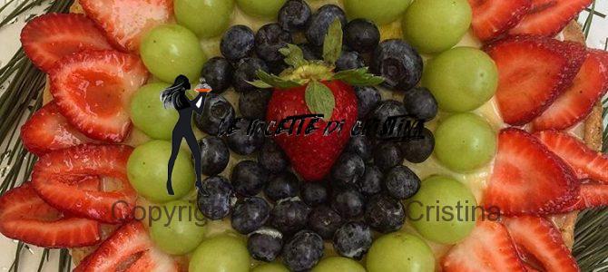 Ricetta della crostata di fragole e uva con riduzione di Porto
