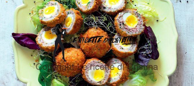 Ricetta delle uova di quaglia alla scozzese con marmellata di cipolle all'arancia
