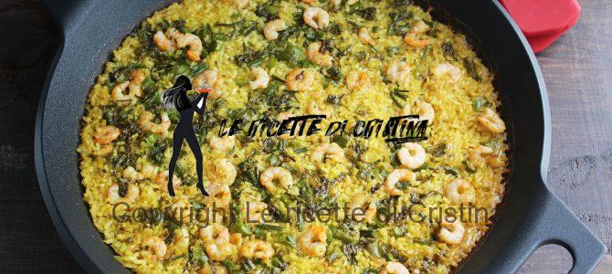 Ricetta del risotto al mojito con fichi e gamberi
