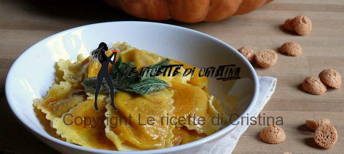 Ricetta dei tortelli di zucca e amaretti