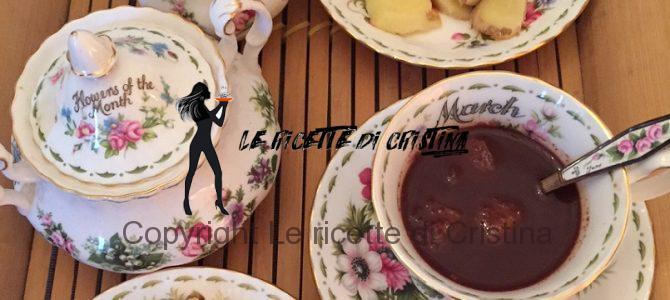 Ricetta degli amaretti e cioccolato in tazza allo zenzero