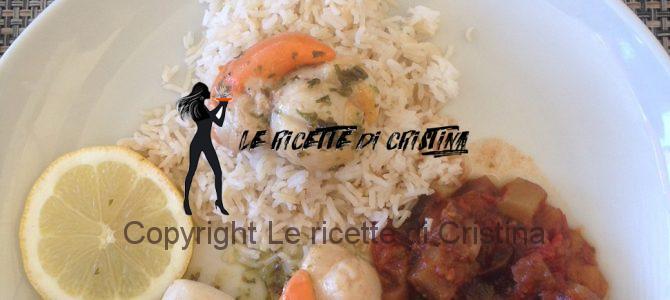 Ricetta del Sauté di Saint Jacques con riso Basmati e caponatina di verdure